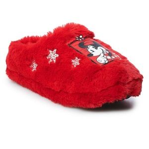 DISNEY Minnie Mouse Slippers Clogs Red S 5-6